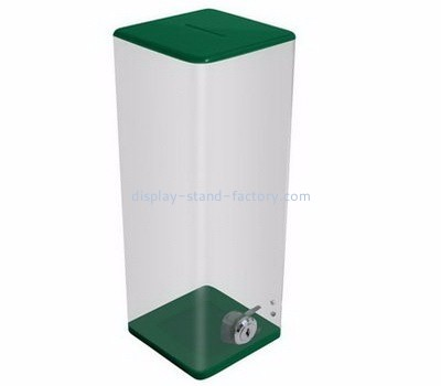 Custom design acrylic donation tins collection box donation boxes for sale NAB-006