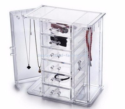 Custom acrylic jewellery display necklace display box jewelry display cases for sale NJD-009