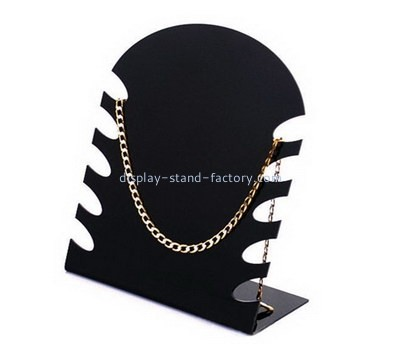 Custom acrylic necklace display plastic display stands body jewelry display NJD-010