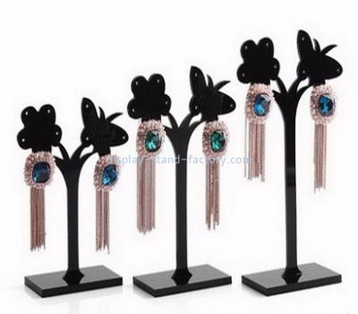 Custom acrylic earring and ring holder jewelry displays cheap lucite display stands NJD-018