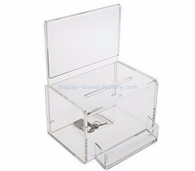 Customized acrylic perspex suggestion box ballotbox suggestion box with lock NAB-014