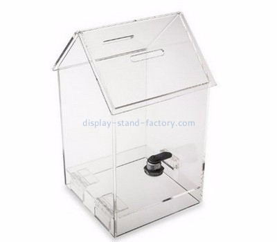 Custom acrylic perspex ballot box plexiglass ballot box clear ballot box with lock NAB-016