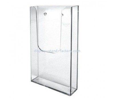 Customized acrylic brochure wall rack wall literature holder literature racks and displays NBD-007