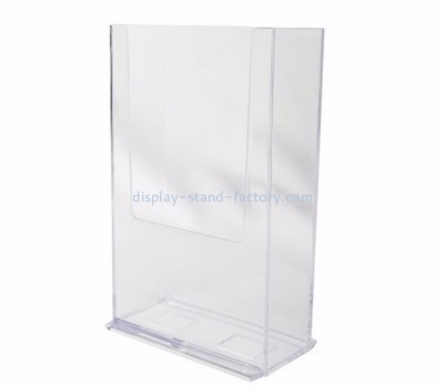 Customized acrylic holders display pamphlet display stand standing brochure holder NBD-009
