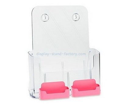 Customized wall mounted brochure display acrylic holders display plastic display stands for flyers NBD-012
