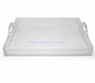 Acrylic display supplier customized personalized acrylic tray serving with handles NFD-040