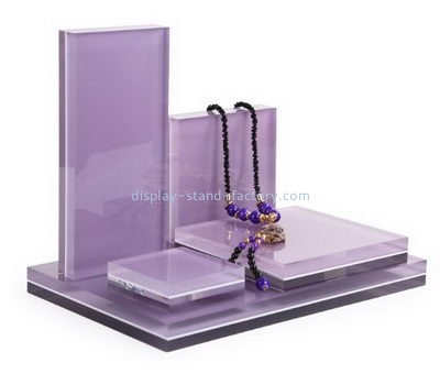 Customize acrylic tall necklace display stand NJD-188