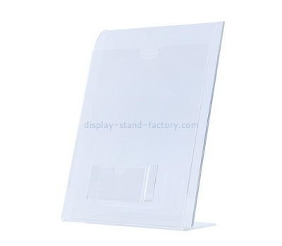 Customize acrylic sign holder with business card pocket NBD-544