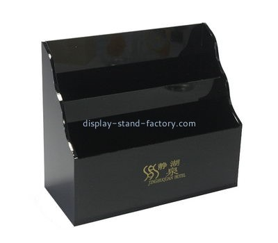 Customize acrylic tiered brochure holder NBD-553