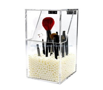 Customize plexiglass cosmetic brush holder organizer NMD-537