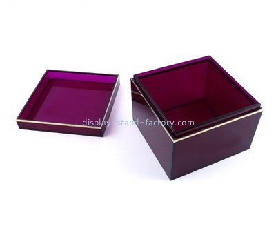 Customize perspex box with lid NAB-960