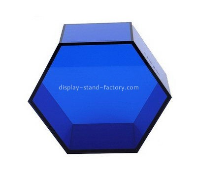 Customize lucite hexagon shaped box NAB-965