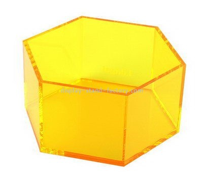 Customize plexiglass hexagon box NAB-967