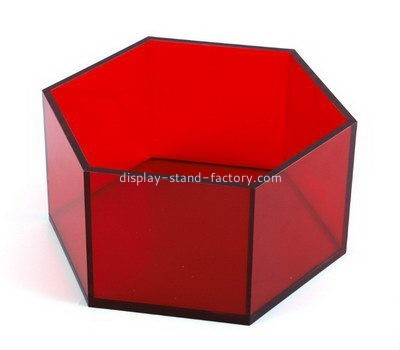 Customize perspex hexagon shaped box NAB-968