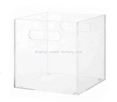Customize acrylic carry box with handle NAB-995
