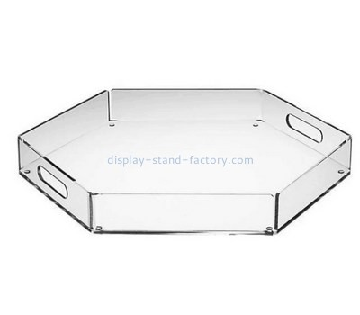 Customize acrylic serving tray with handles STD-112