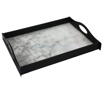 Customize plexiglass serving tray with handles STD-121