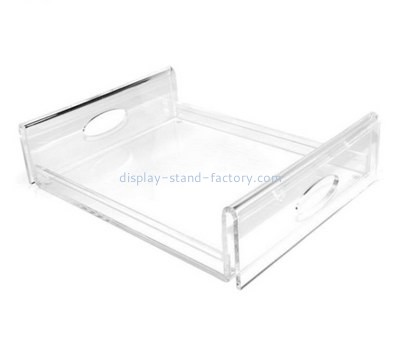 Customize lucite serving platter with handles STD-123