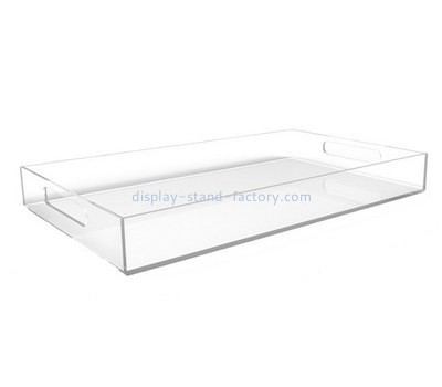 Customize clear serving platter with handles STD-126