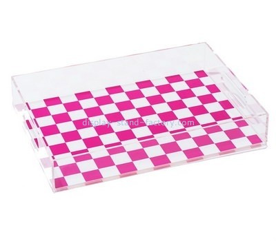 Customize clear acrylic plastic serving trays STD-133