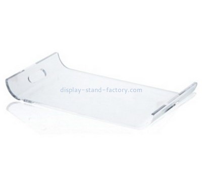 Customize clear acrylic serving tray with handles STD-129