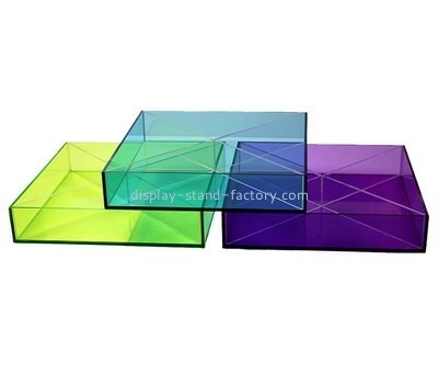 Customize lucite square tray STD-143