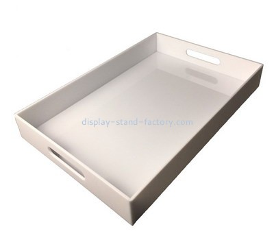 Customize white serving tray with handles STD-154