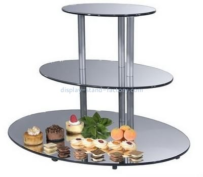 Customize acrylic 3 tier cake stand NFD-154