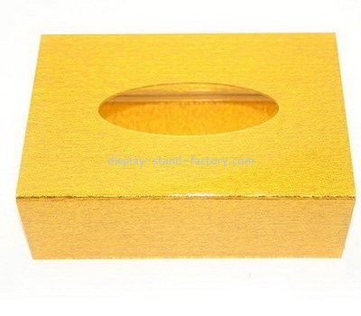 Acrylic gold tissue box NAB-1057