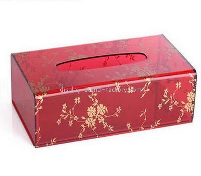 Hotel red acrylic tissue paper box NAB-1097