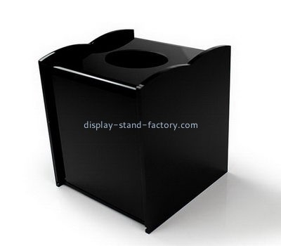 Hotel black acrylic tissue box NAB-1113