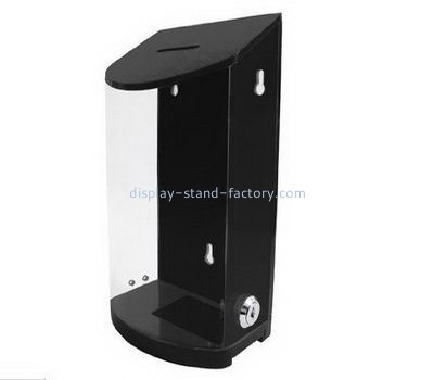 Wall acrylic donation box with lock NAB-1118