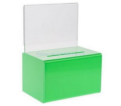 Custom green acrylic donation box NAB-1124