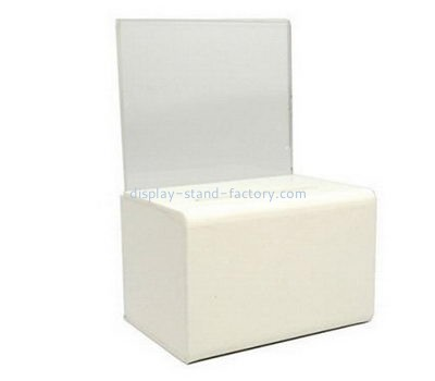 Custom white acrylic voting box NAB-1122