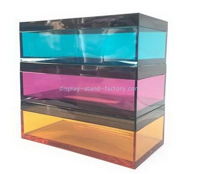 Customize colored acrylic tissue box NAB-1134