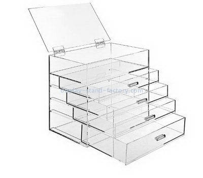 Customize clear acrylic 4 drawers box NAB-1156