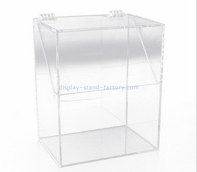 Customize tall acrylic display case with lid NAB-1164