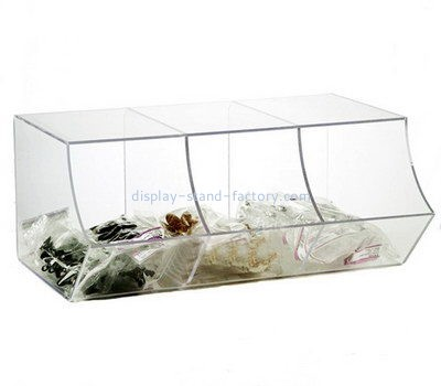 Customize counter top 3 grids acrylic display case NAB-1163