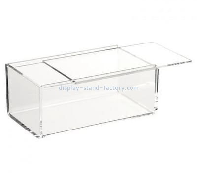 Display box manufacturer customized clear acrylic box with sliding lid NAB-340