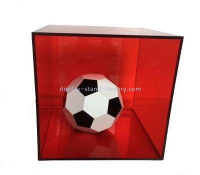 Customize red acrylic football display case NAB-1172