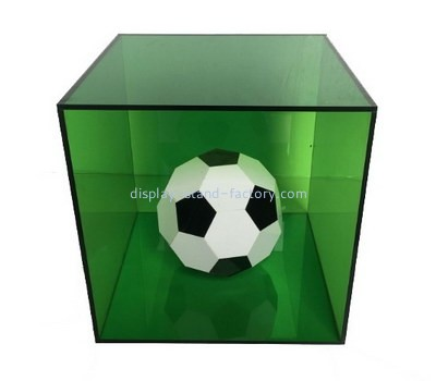 Customize green acrylic football display box NAB-1171