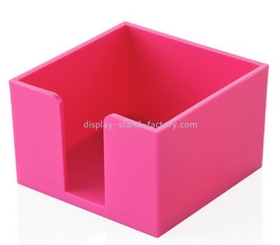 Customize pink acrylic notepad holder NAB-1176