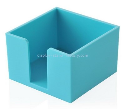 Customize blue acrylic notepad holder NAB-1177