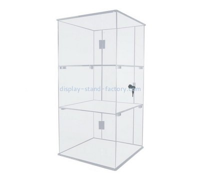 Custom clear acrylic lockable display cabinet NAB-1190