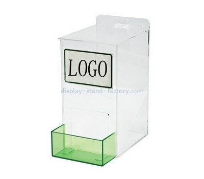 Custom clear acrylic mountable earplug dispenser NAB-1193