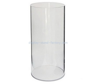Custom round tall acrylic display case NAB-1197