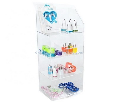 Custom clear acrylic phone accessories display cabinet NAB-1207