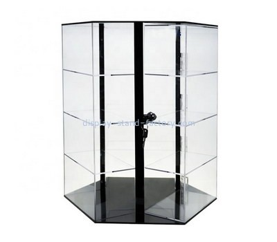 Custom retail acrylic rotating display cabinet NAB-1204