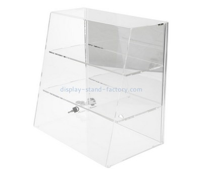 Custom front slant acrylic display cabinet NAB-1209