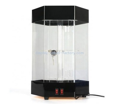Custom hexagon acrylic locking cabinet NAB-1224